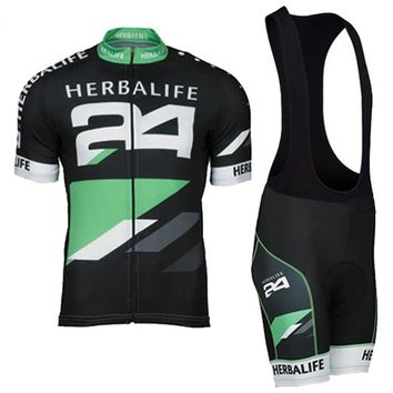 HOT!Classic Black HERBALIFE Cycling Jersey Short Sleeve Summer Maillot Ciclismo Men High Quality Bib Shorts MTB Bike Clothes Set