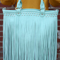 Fashion Bag with Fringe by Texas Leather - 500238