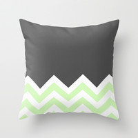 Color Blocked Chevron 15 Throw Pillow by Josrick