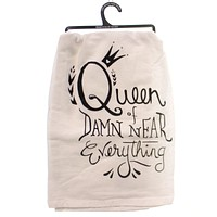 Home & Garden QUEEN DISH TOWEL Fabric Made You Smile 25524