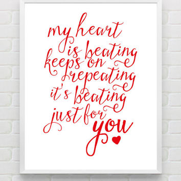 Printable Typography Print, Valentines Day Gift For Him Wedding Anniversary Gift For Men, Love Print Wedding Gift For Husband and Boyfriend