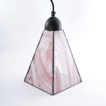 Stained Glass Pendant Light, Custom Lighting, Hanging Lamp, Modern Home Decor, Ceiling Fixture, Glass Shade, Kitchen Island, Stain Glass