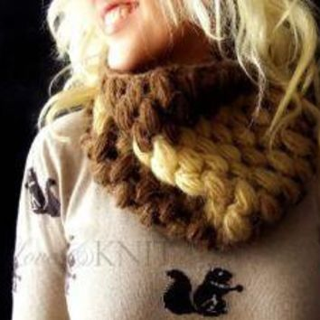 Cashmere Blend Mohair Cowl by LoveandKnit on Etsy