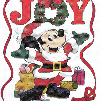 Paragon Needlecraft Walt Disney Christmas In Counted Cross Stitch Charted Designs Rare OOP