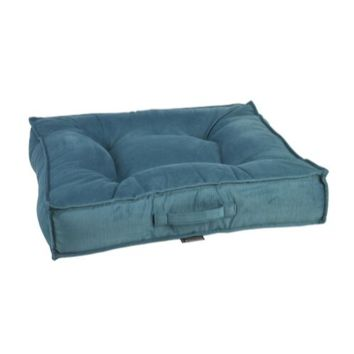MicroVelvet Square Piazza Dog Bed — Teal