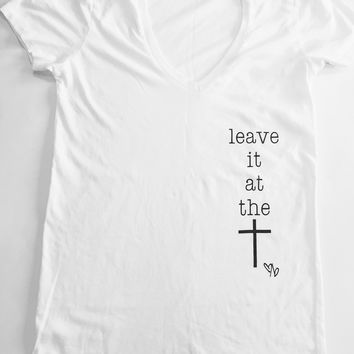 Leave It At The Cross Tee