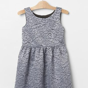 Gap Girls Rose Embroidered Fit & Flare Dress