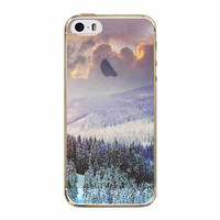 Beautiful Mountain Scenery Ultra Thin Half Transparent Soft TPU Phone Case Cover Shell For Apple iPhone 5 5S SE