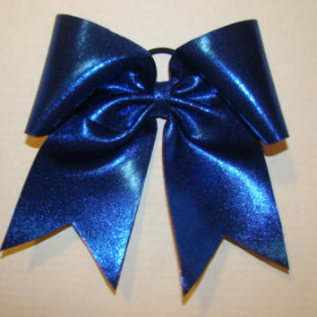 Shiny Dark Royal Blue Cheer Bow