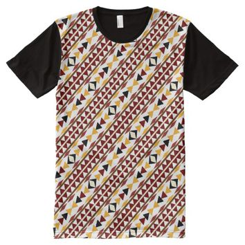 Navajo Tribal Ethnic Southwestern Style All-Over Print T-shirt