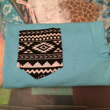 Aztec pocket tee