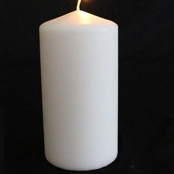 "Pillar Candle in White - 6"" Tall x 3"" Wide"