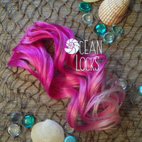 Pink ombre Hair Extensions, Clip in Hair Extensions, human hair extensions,Peekaboo Highlights, Single clip in, Hair Extensions clip in