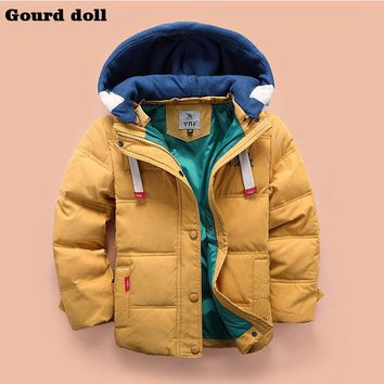 New clothes fashion winter Children boys jacket Outerwear Coat jacket for boy 3 Colors Cotton Christmas kids boys clothes