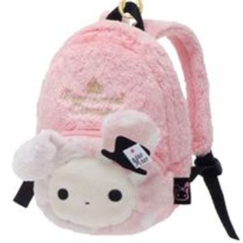 pink Sentimental Circus rabbit plush backpack bag - Wallets - Accessories