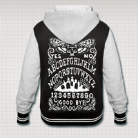 Ouija Board Death Moth Varsity hooded jacket