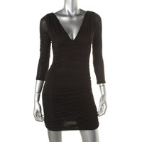 Guess Womens Jersey Ruched Party Dress