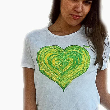 Fluo tshirt 3D/ St. Patrick's day/ personalized/ customizable/painting/ Neon