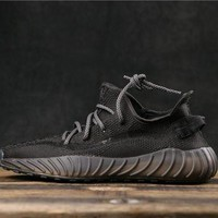 Adidas Yeezy 350 V3 Boost Black Running Shoes DCCK
