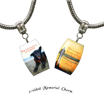 Custom photo charm, Personalized Large Hole photo charm, fits many European style charms bracelets including Pandora™, photo charm: T000161