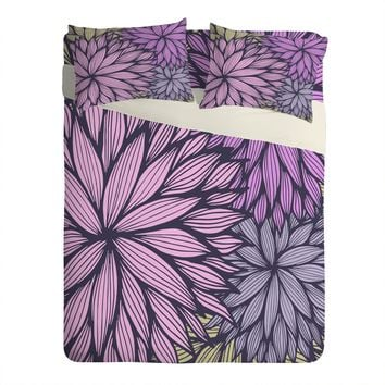 Gabi Purple Dahlia Sheet Set Lightweight