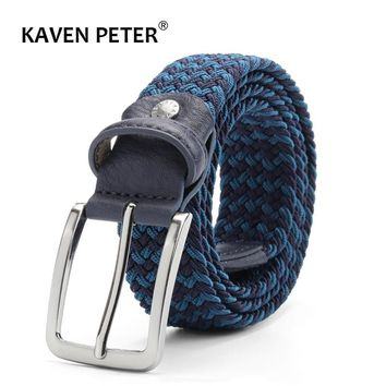 Men Elastic Belt Striped Women Stretch Belt For Unisex Knitted Braided Long Belt Extend 160 CM Belt Factory Directly Price