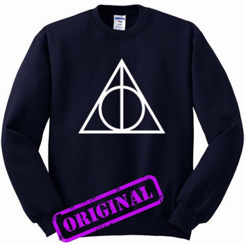 Deathly Hallows for Sweater navy, Sweatshirt navy unisex adult
