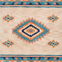 nuLOOM Hand Hooked Tribal Armida Multi-Color Rug