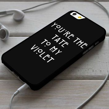 You're the Tate to my Violet American Horror Story iPhone 4/4s 5 5s 5c 6 6plus 7 Case