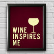 Wine Print, Kitchen Decor, Kitchen Print, Typography Poster, Wall Art, Inspirational Print, Wine Poster, Kitchen Quote Art