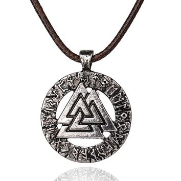 Odin's Viking Symbol Pendant Necklace