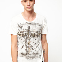 Religion Skeleton Wings SS Scoop Neck Tee