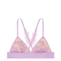 Daisy Lace Triangle Bralette - PINK - Victoria's Secret