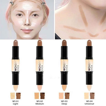 New 4Color Long Lasting Concealer Pen 3D Makeup Highlight Stick Dark Color Contouring Face Lip Eye Concealer Pen Tools