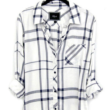 Rails Hunter buttondown in cadet blue