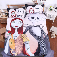 Bedding Set Nightmare Before Christmas Home Textiles for Lovers Sheet Twin Full Queen King 3Pcs Bedclothes