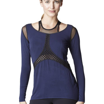Michi Sirena Top - Blue | Classy Workout Top