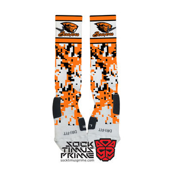 Custom Nike Elite Socks - Oregon State Beavers Custom Nike Elites - OSU, Custom Elites, Oregon State University, Beavers Socks, OSU Socks