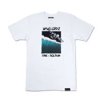 Wavelordz IV Tee in White – Pink+Dolphin