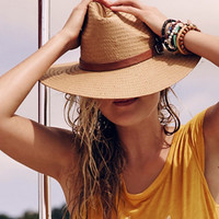 Free People Womens Toreo Wide Brim Straw Hat