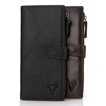 Leather Bags Big Capacity Zippers Men Wallet [9026275523]