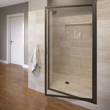 Basco Deluxe 36 in. x 70-1/2 in. Framed Pivot Shower Door in Oil Rubbed Bronze with Clear Glass-A005-12CLOR - The Home Depot