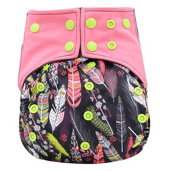 Pocket Cloth Diaper Covers Washable Reusable Baby Nappies with Microfiber Insert Adjustable Baby Diapers