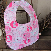 Toddler Bib  puppies and paisleys by daisylanedesign on Etsy