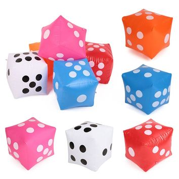 Inflatable 30X30cm PVC Cube Dice Casino Poker For Outdoor Beach Party Bar Game S