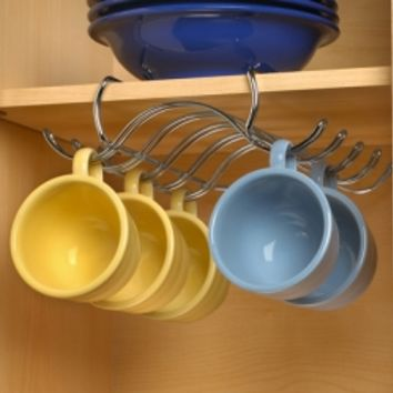 Under The Shelf Mug Holder :: Welcome to NeatlySmart™ :: Good things for your home & family™