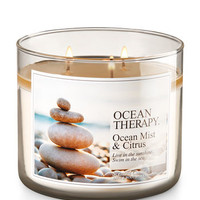 Ocean Therapy - Ocean Mist & Citrus 3-wick Candles | Bath And Body Works