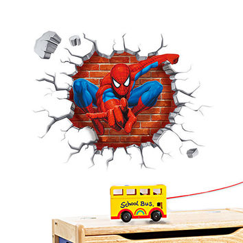 Spider-man 3D Wall Decal