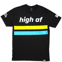 Black High AF T-Shirt | Electric Family Clothing