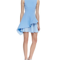 Cushnie et Ochs Sleeveless Asymmetric Flounce Dress
